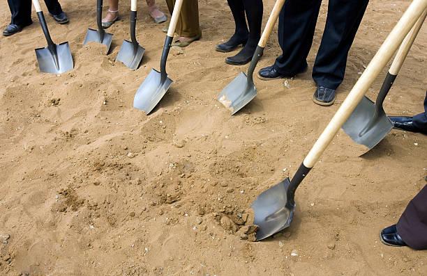 Ground Breaking Ceremony stock photo