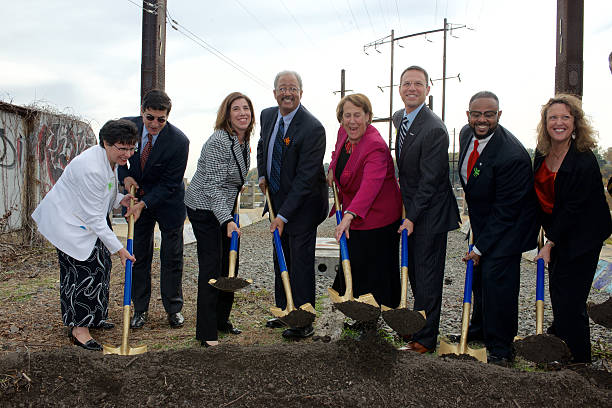 Ground breaking of Manayunk Bridge re-purpose project stock photo