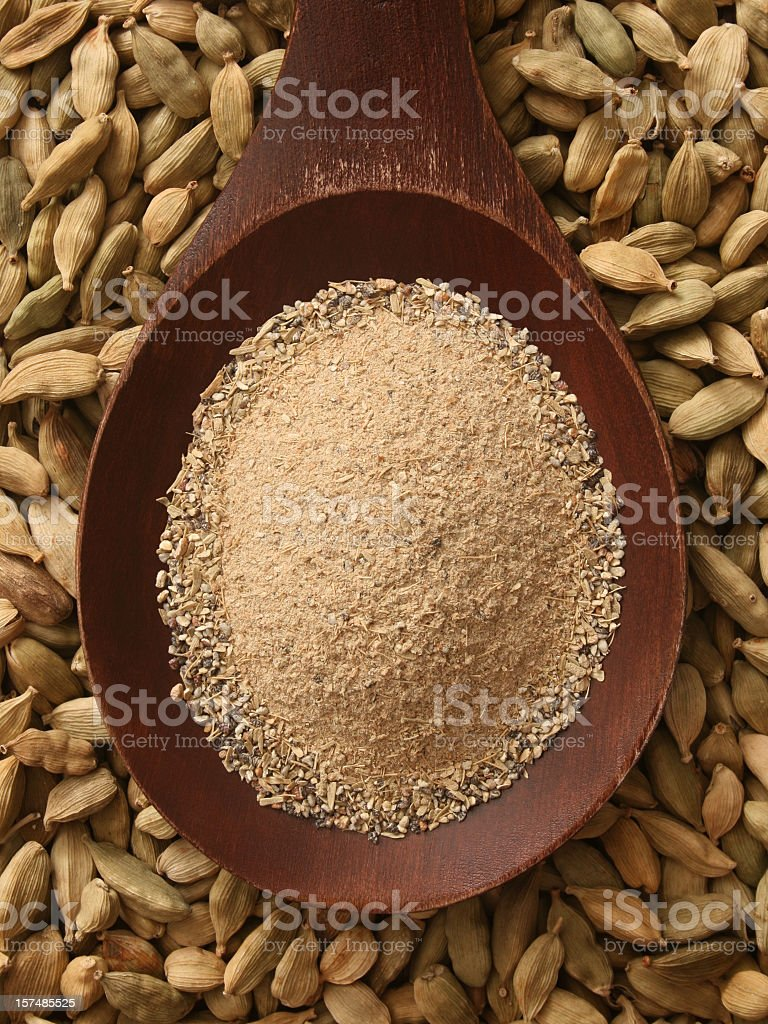 Ground cardamom stock photo