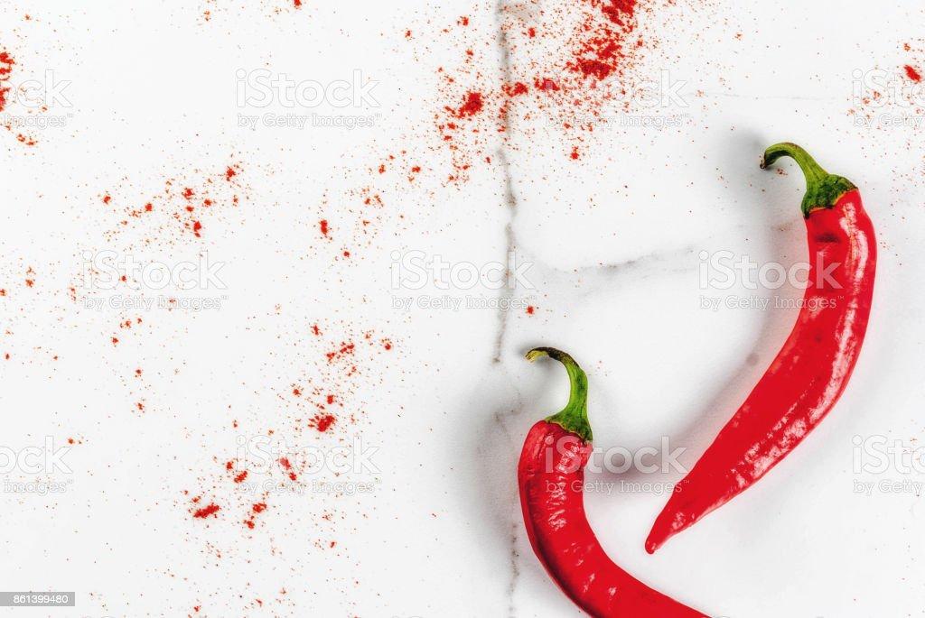 Ground chili pepper stock photo