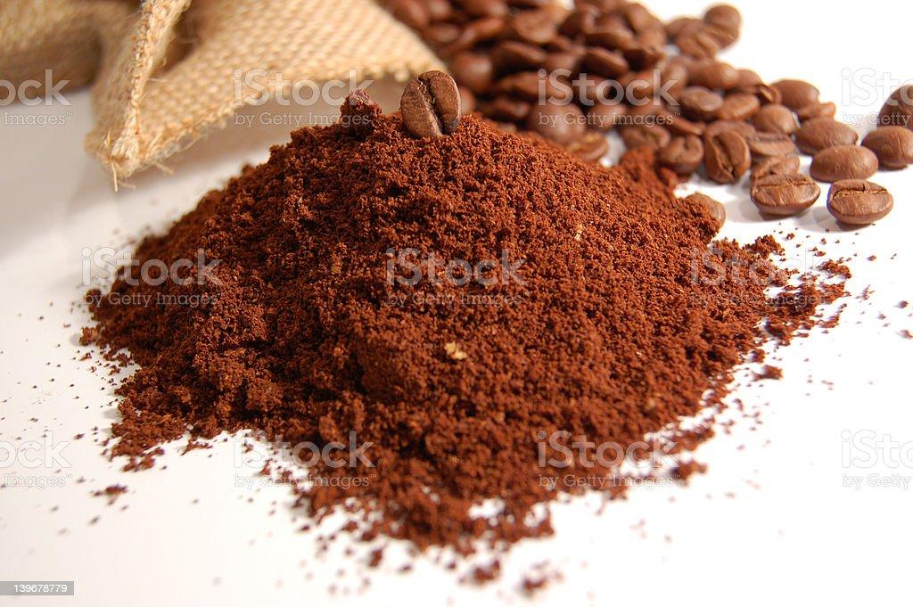 Ground coffee royalty-free stock photo