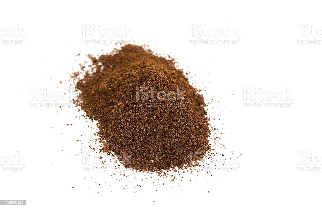 Ground coffee royalty-free stock photo