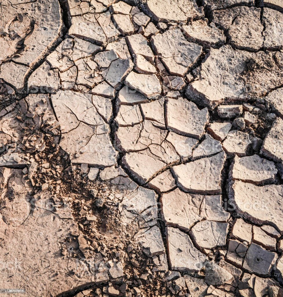 Ground crack background / soil texture and season dry mud arid land