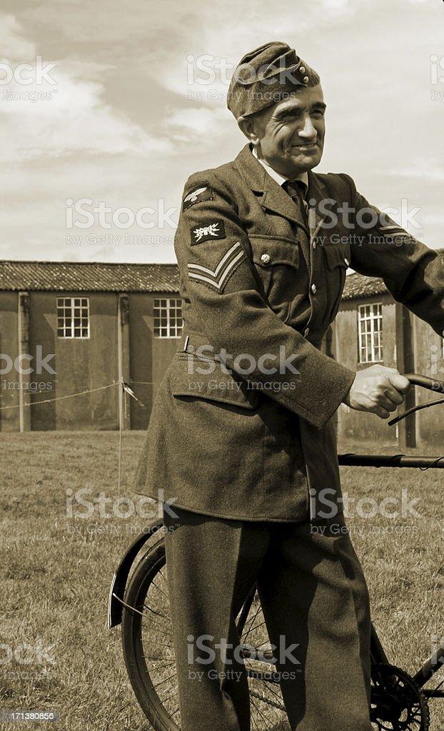 RAF Ground Crew. stock photo