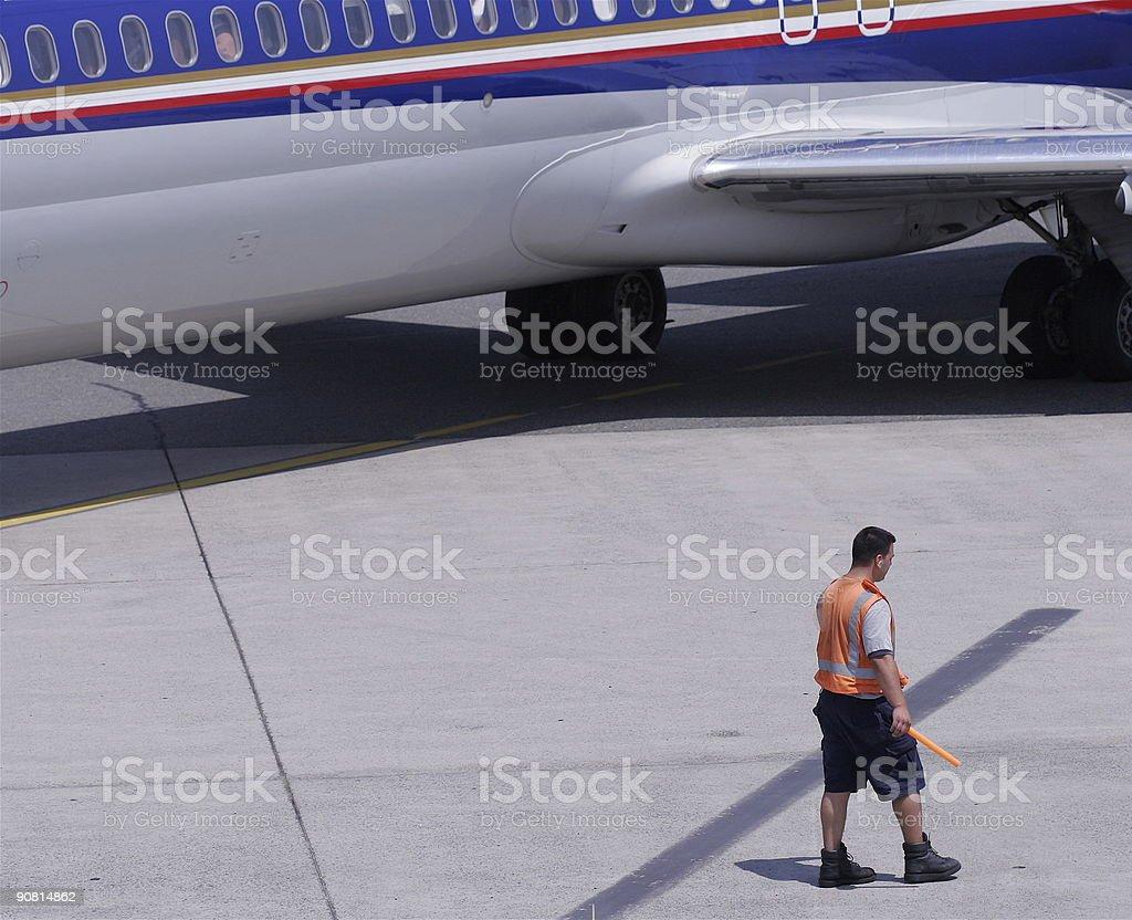 Ground Crew royalty-free stock photo