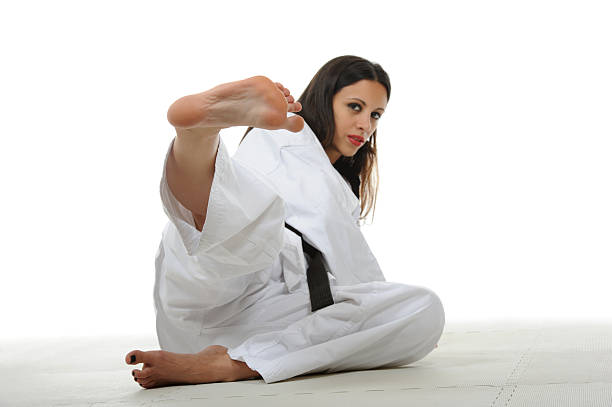 ground defensive - karate stock photos and pictures
