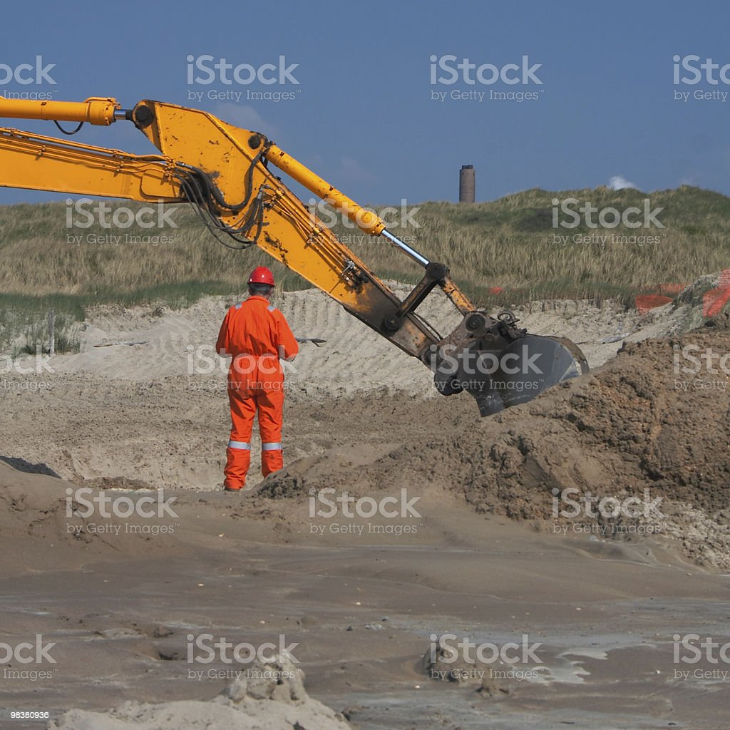 Ground engineer royalty-free stock photo