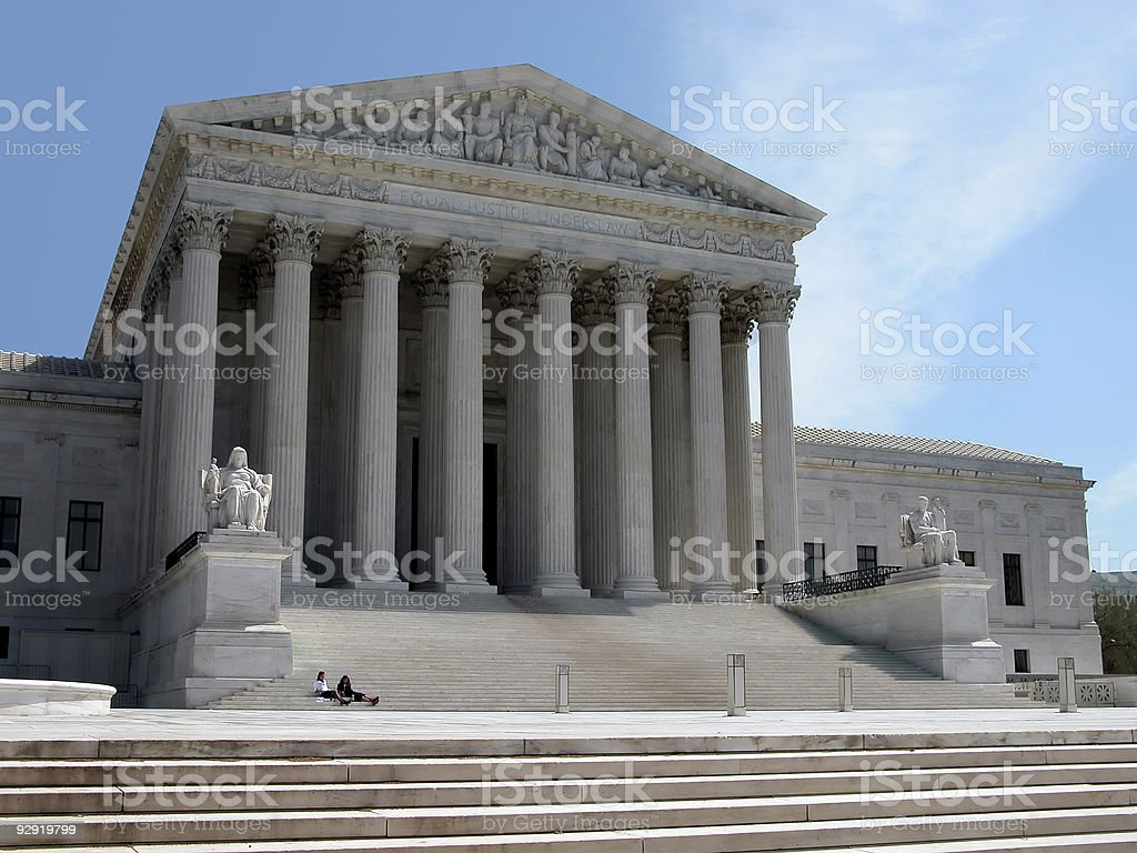 Ground floor view of US Supreme Court at day time royalty-free stock photo