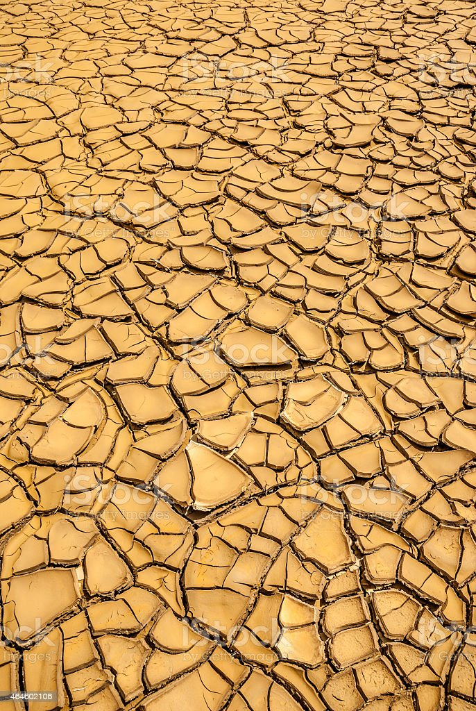 ground in drought, soil texture and dry mud stock photo