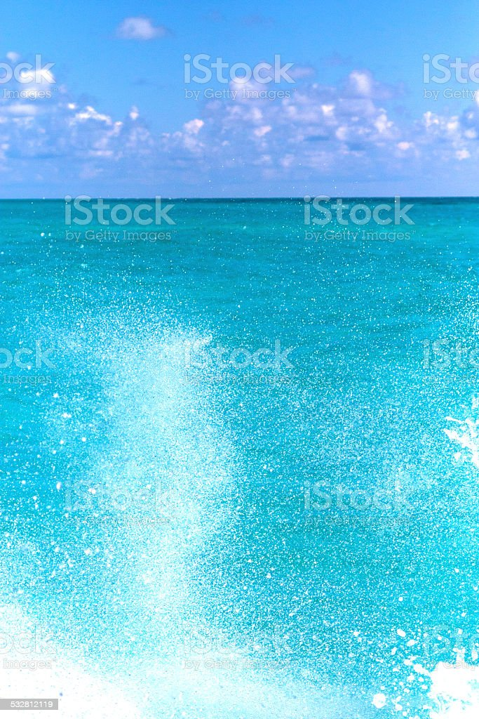 ground in mexico froath  blue stock photo
