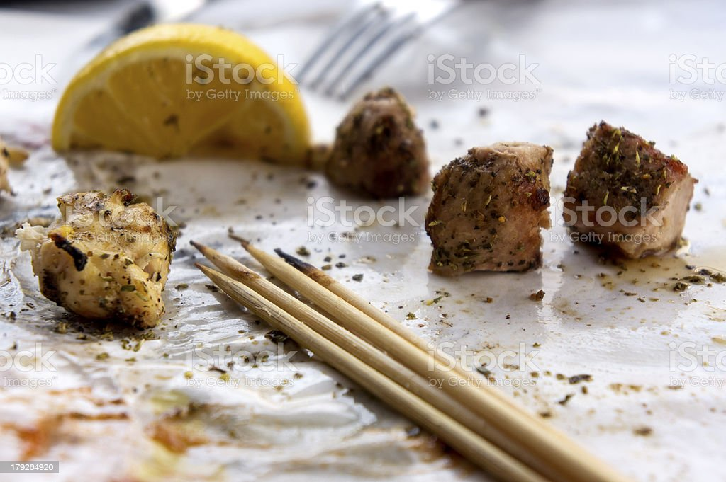 Ground kebab royalty-free stock photo