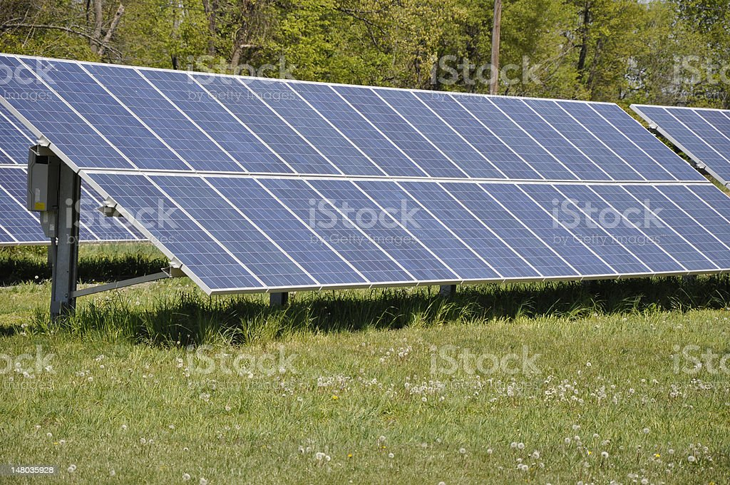 ground mounted solar panels royalty-free stock photo