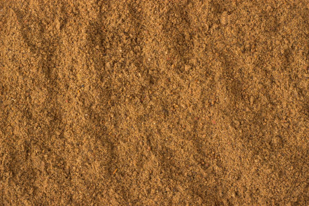 ground nutmeg powder spice as a background, natural seasoning texture texture of ground nutmeg powder close-up, spice or seasoning as background nutmeg stock pictures, royalty-free photos & images