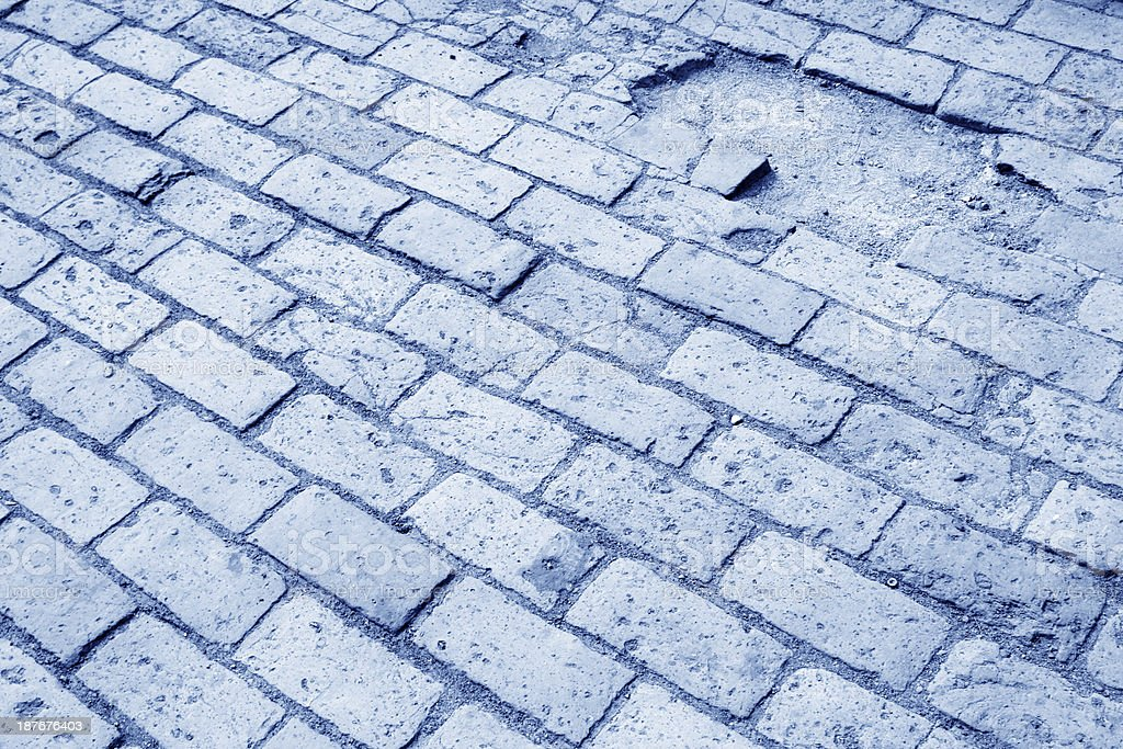 ground of the bricks in a historical and cultural sites stock photo