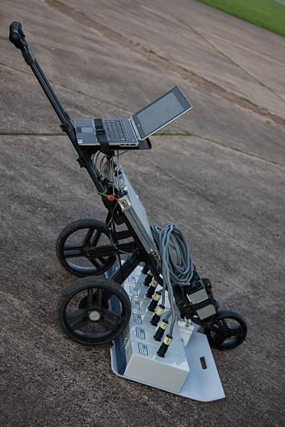 ground penetrating radar machinery - penetrating bildbanksfoton och bilder