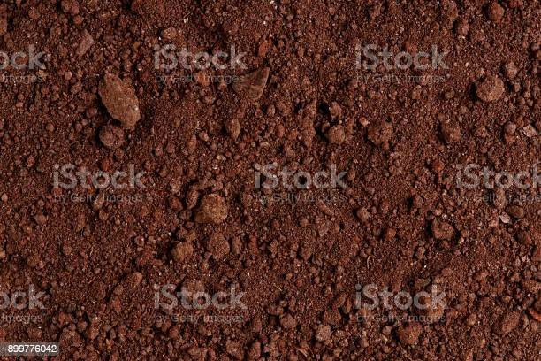 Photo of Ground Texture. Top View of a Dark Ground Surface.