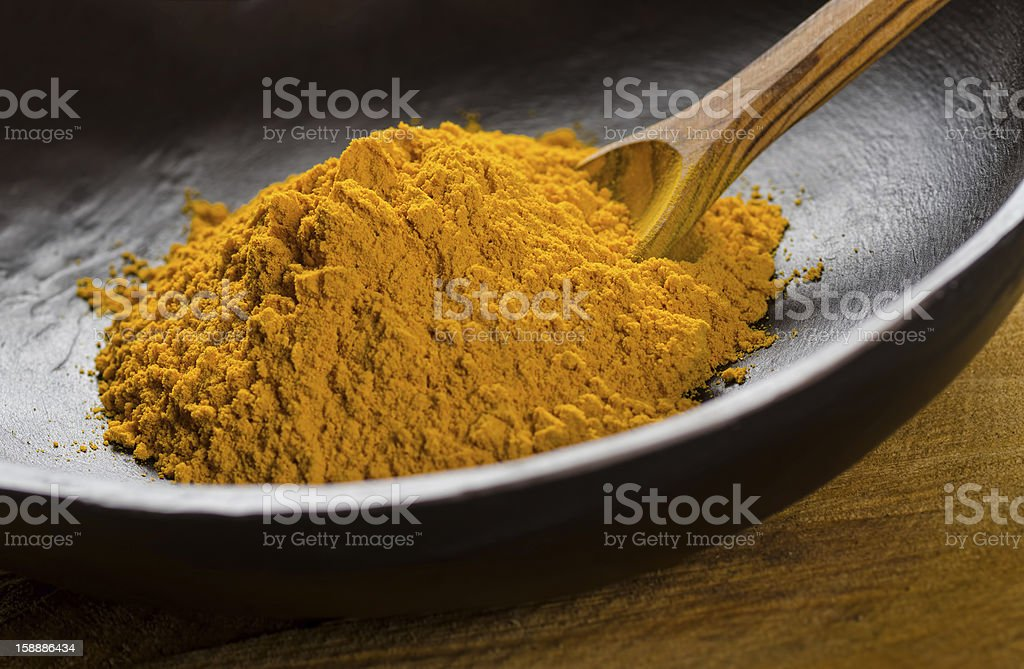 Ground Turmeric royalty-free stock photo