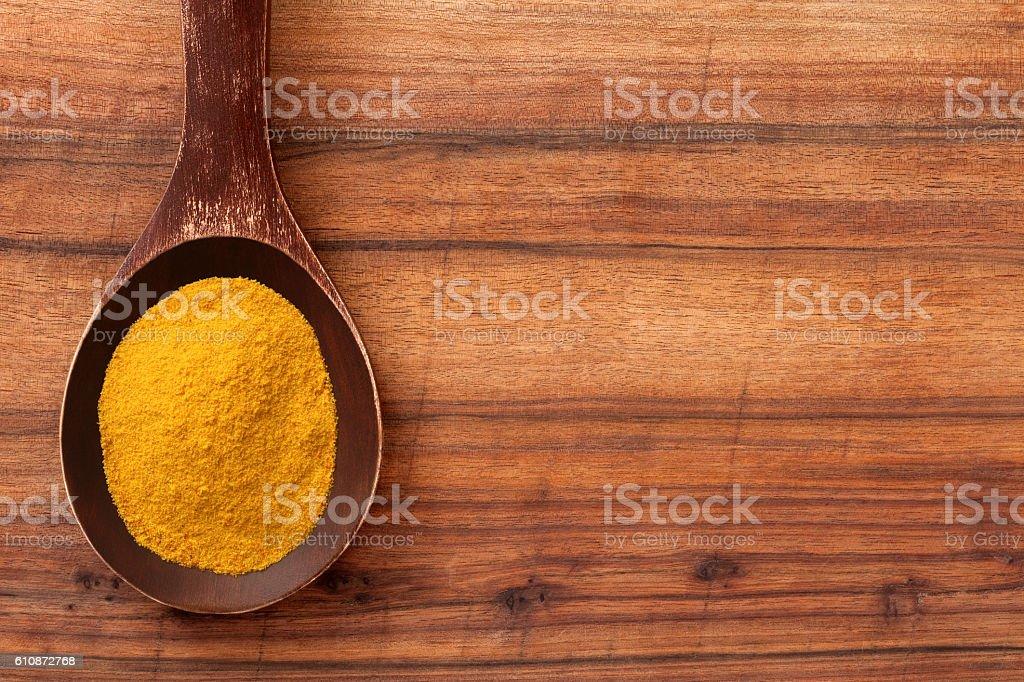 Ground turmeric stock photo