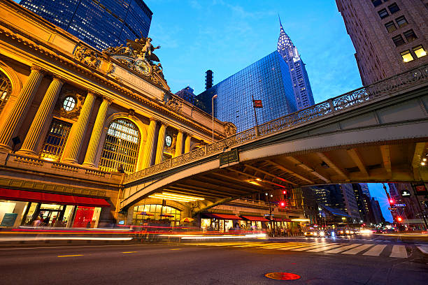 Ground view image of Grand Central Terminal stock photo