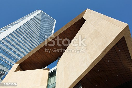 istock A ground view of a contemporary building in Charlotte 183883859