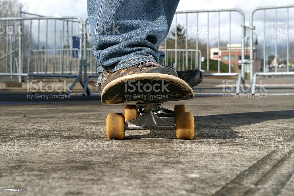 Ground View of Skateboard royalty-free stock photo