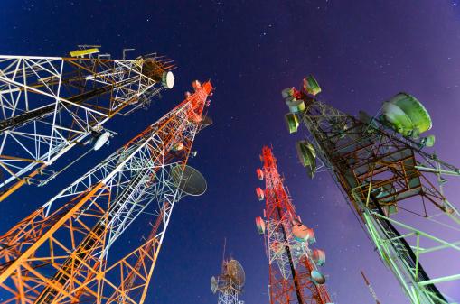 Torre Delle Telecomunicazioni - Fotografie stock e altre immagini di A forma di stella