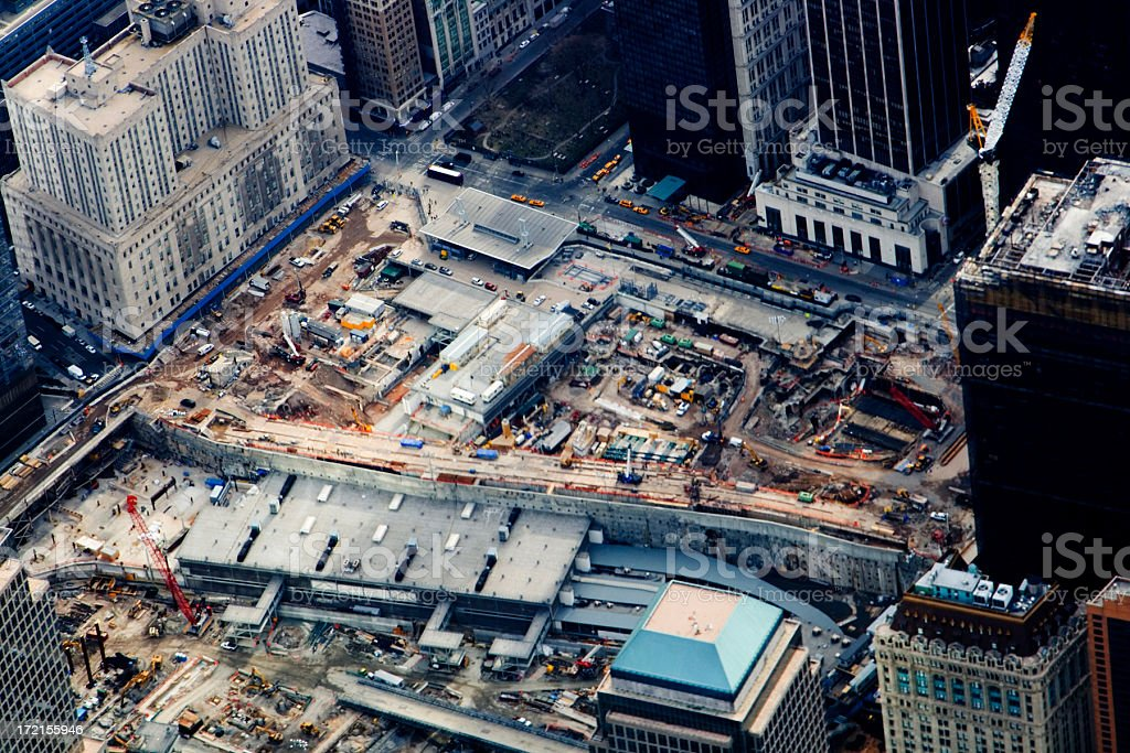 Ground Zero Aerial royalty-free stock photo