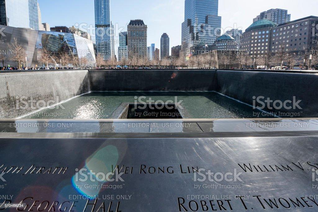 Ground Zero Memorial stock photo