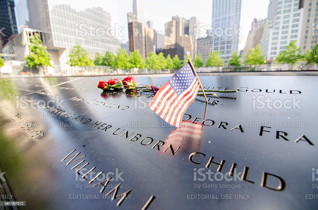 Ground Zero Memorial With Names Engraved stock photo