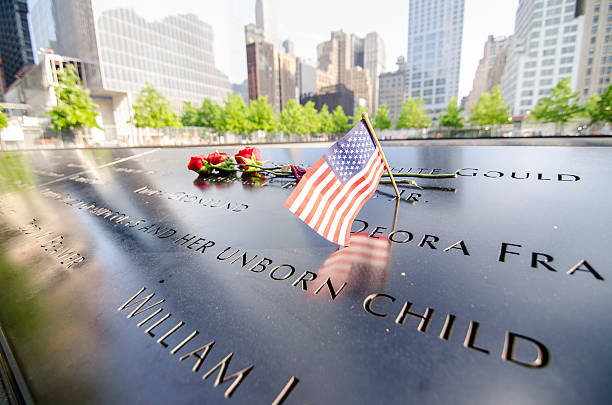 Ground Zero Memorial With Names Engraved stock photo