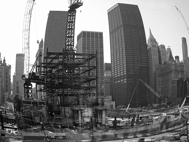 9/11 ground zero stock photo