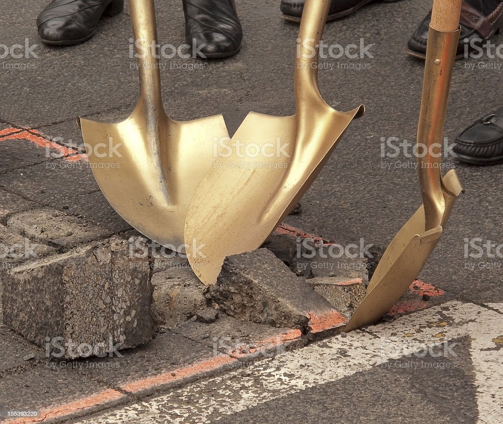Groundbreaking Ceremony stock photo