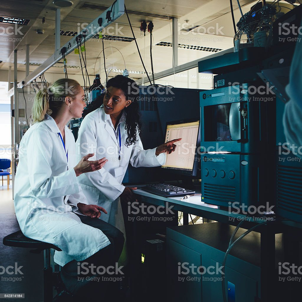 Groundbreaking Research stock photo