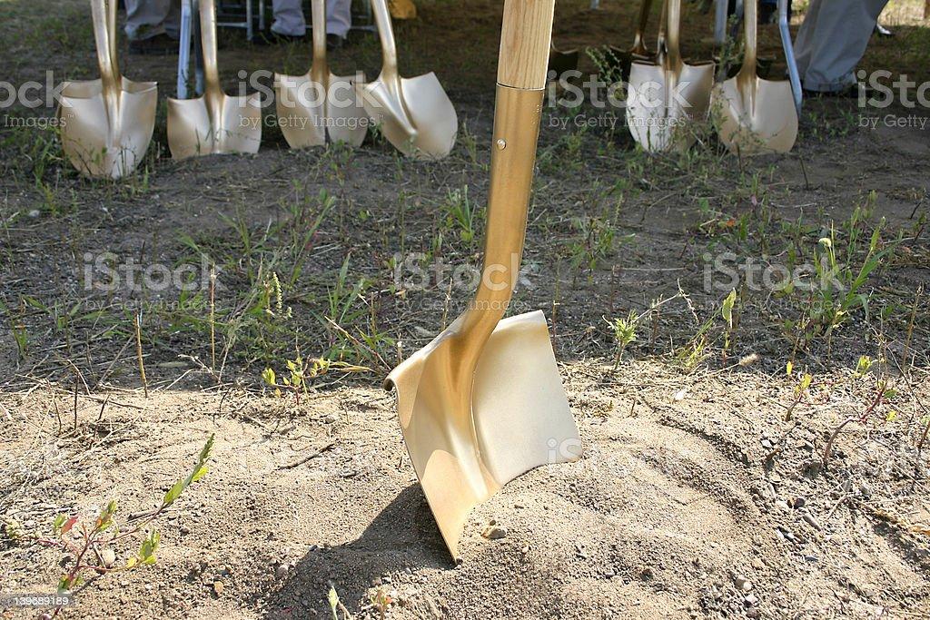Groundbreaking Shovels stock photo