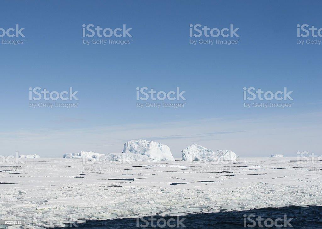 Grounded Icebergs Antarctica stock photo