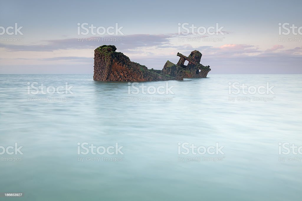 Grounded vessel stock photo