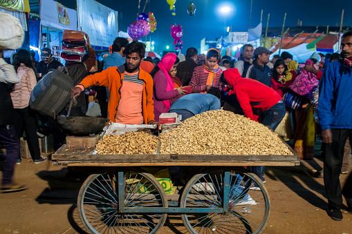 Groundnut Seller in Poush Mela