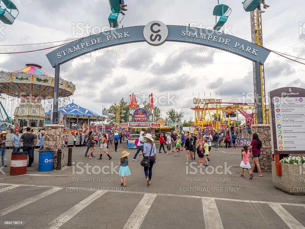 grounds at the Calgary Stampede - foto stock
