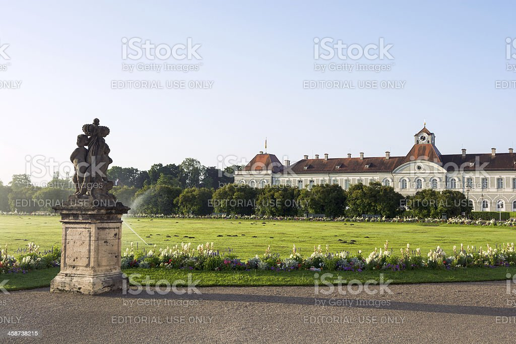 Grounds of Nymphenburg Palace in Munich, Germany stock photo