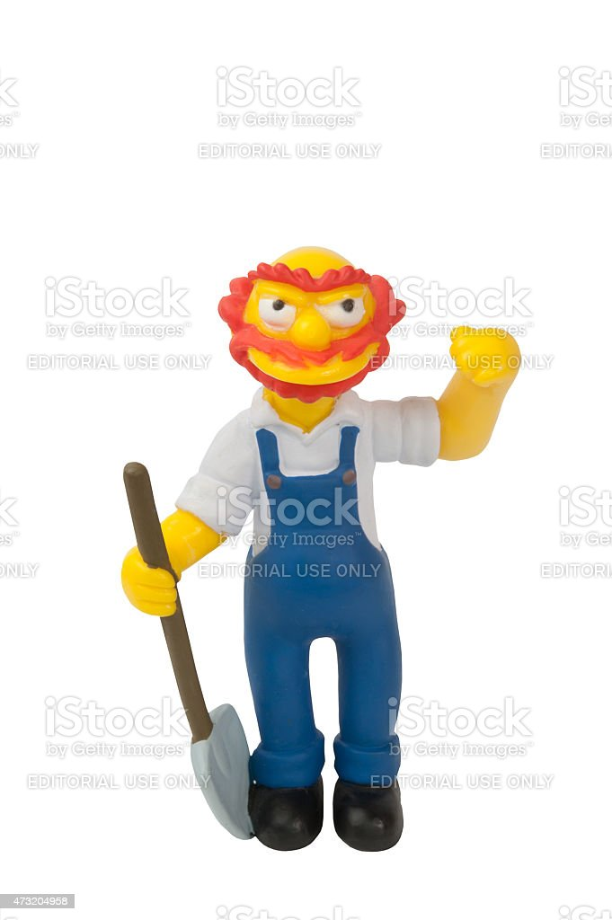 Groundskeeper Willie Figurine stock photo