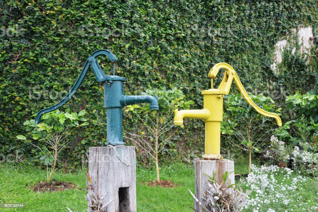 groundwater pump stock photo