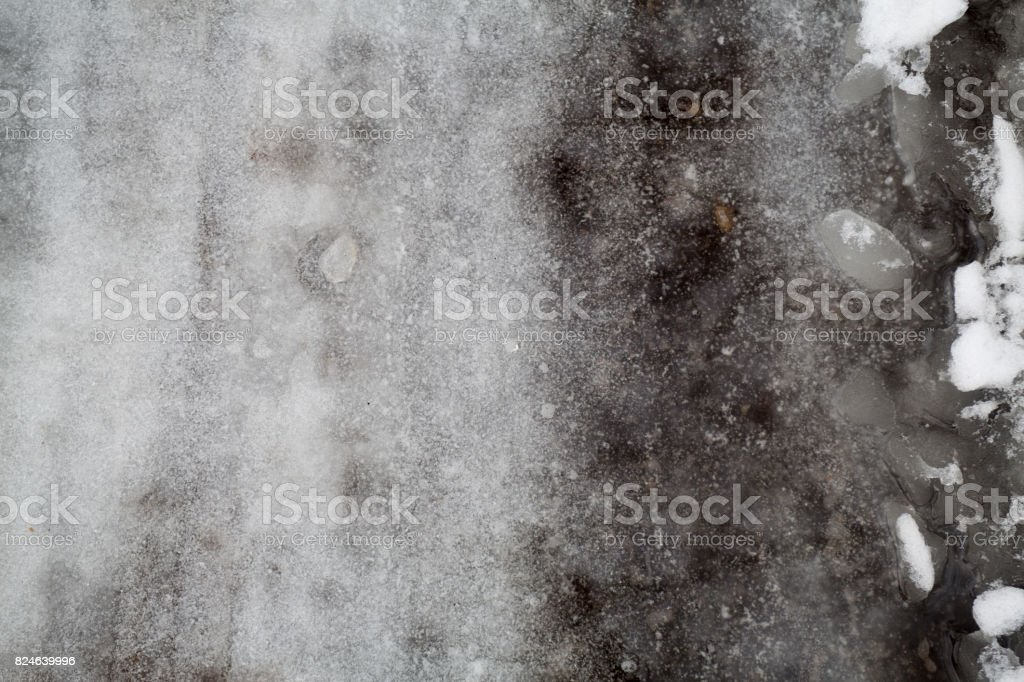 Groung snow dark gray background stock photo