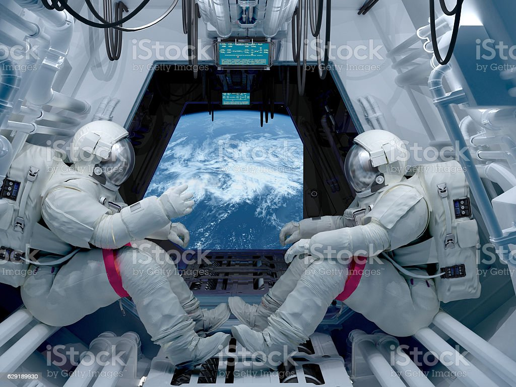Group astronauts - foto de stock
