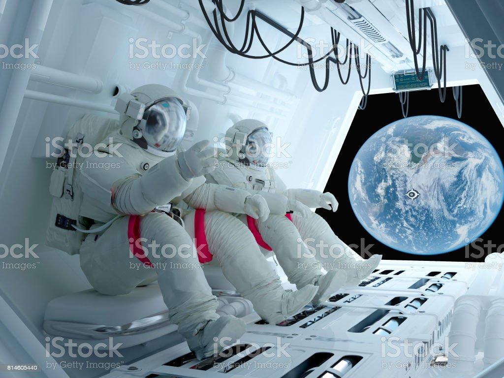 Astronautes de groupe - Photo