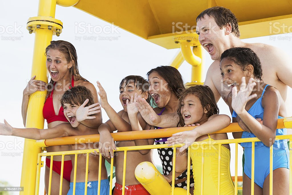 Group at water park royalty-free stock photo