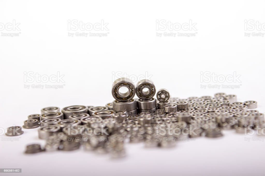 Group bearings and rollers stock photo