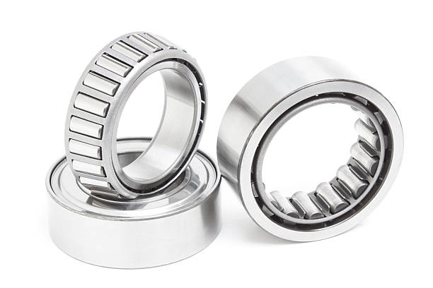Group bearings and rollerse stock photo
