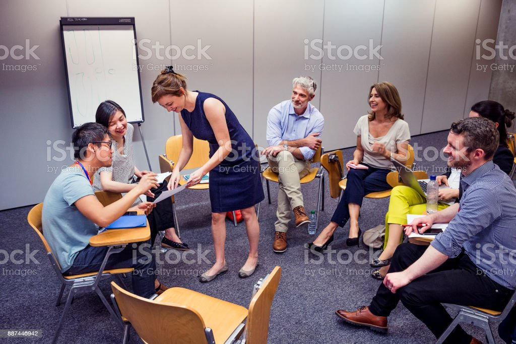 Group Circle of Professional Adult stock photo