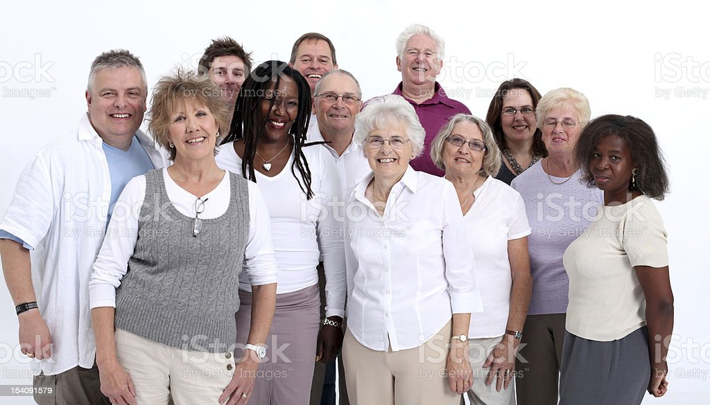 Group coming together royalty-free stock photo