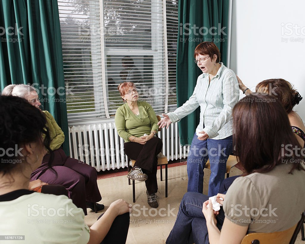 Group Counseling royalty-free stock photo